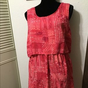 Ready for Summer pink and red summer dress size XL
